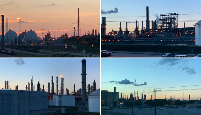 refinery collage