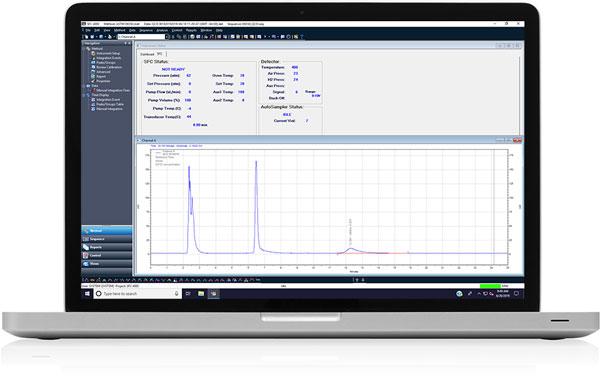 chromatogram in monitor